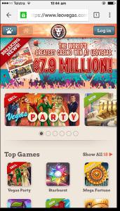Leo Vegas - Real money mobile casino suite