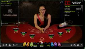 Extreme Games live dealer blackjack