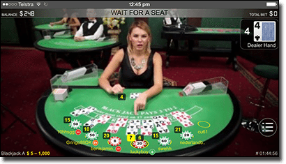 Live dealer blackjack on mobile