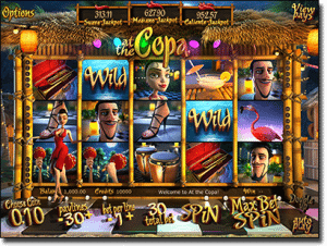 At the Copa 3D online slot