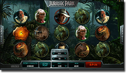 Jurassic Park online video slot by Microgaming