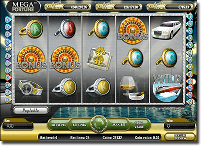 Play Mega Fortune progressive jackpot slot
