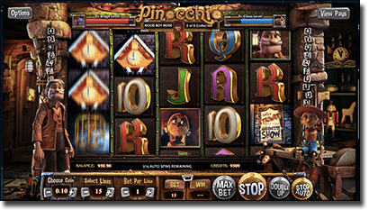 Pinocchio online BetSoft Slot3 game