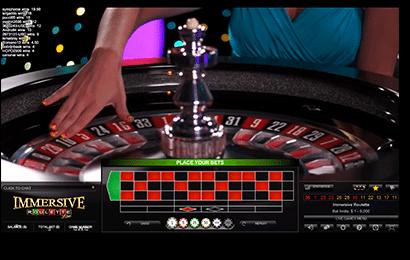 Immersive roulette live dealer online