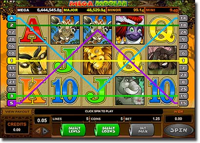 Mega Moolah progressive jackpot real money slots