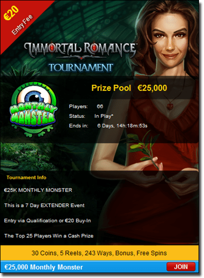 Royal Vegas Casino - Immortal Romance slots tournament