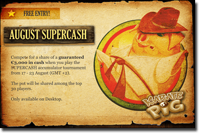 Supercash slots tournament at Royal Vegas