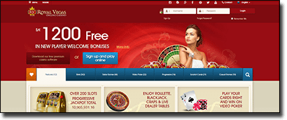 Royal Vegas Casino's website gets a new interface