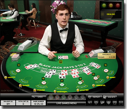 Play live dealer 21 online by Evolution Gaming