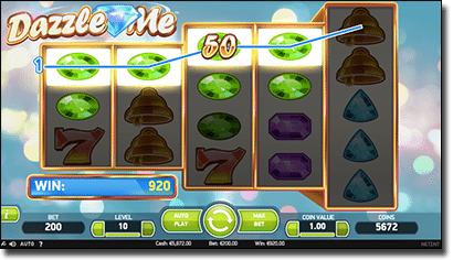 Dazzle Me online slots by Net Ent