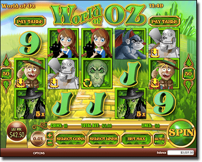 World of Oz pokies at Slots Million