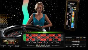 Immersive live dealer roulette online