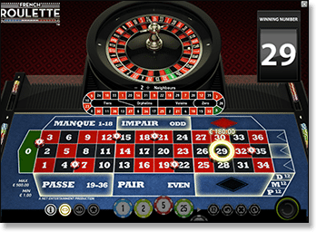 Play online French roulette for real money