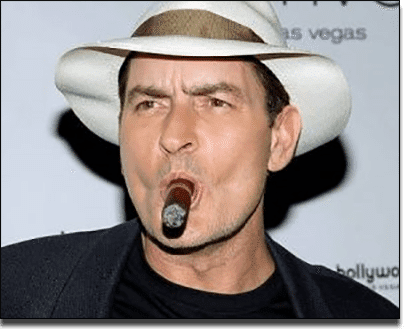 Charlie Sheen celebrity gambling addict