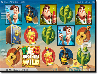 Taco Brother online slots by Elk Studios