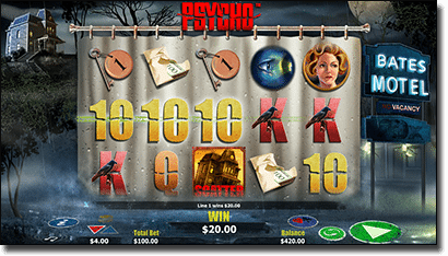 Psycho online slots based on horror film