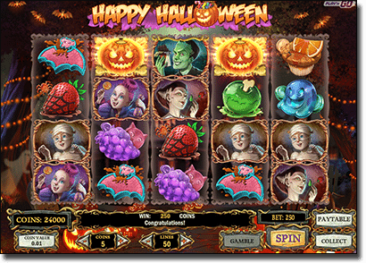 Happy Halloween online slots by Play'n Go