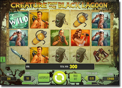Creature from the Black Lagoon online video slots