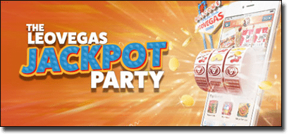 Leo Vegas Casino jackpot party holiday giveaway
