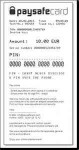 Paysafecard online gambling deposits