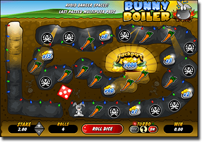 Bunny Boiler instant scratchies by Microgaming