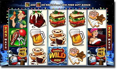 Santa's Wild Ride - real money Christmas-themed slots