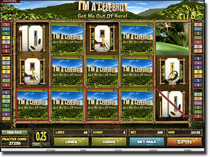 I'm a Celebrity online video slot