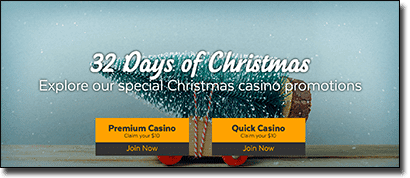 32Red Casino - Christmas specials and promotions