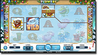 Flowers: Christmas Edition slots at Thrills Casino