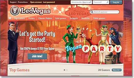 Leo Vegas bonuses and promotions