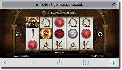 Game of Thrones mobile slot for real money