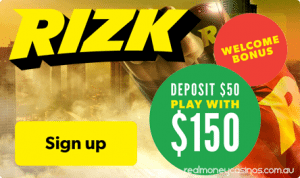 Rizk Casino real money welcome bonuses