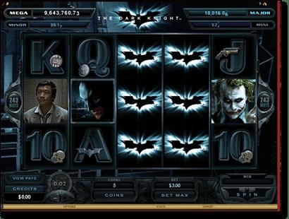 The Dark Knight progressive jackpot over 9 million