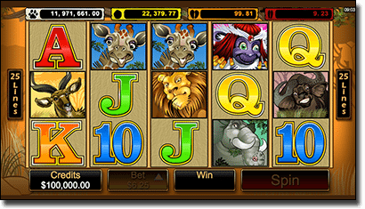 Mega Moolah iPhone slot by Microgaming