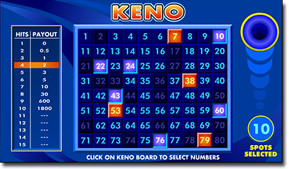 Online keno games by Microgaming