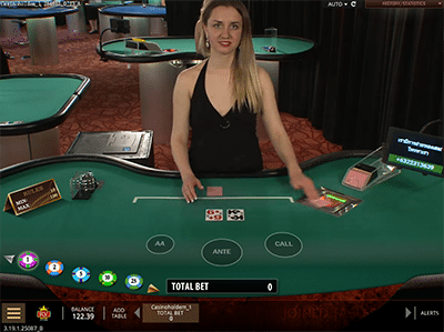 Live dealer Casino Hold'em by Microgaming