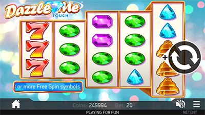 Dazzle Me slot by NetEnt on Android mobile