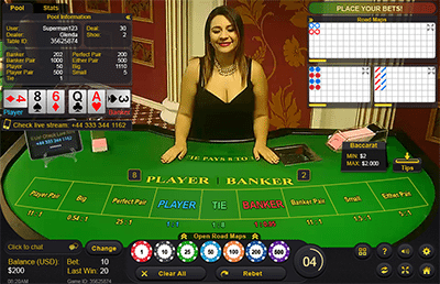 Live dealer baccarat by Ezugi