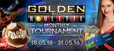 Golden Ball Live Roulette tournament at Leo Vegas Casino