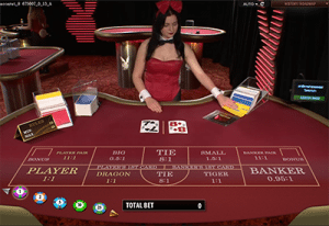 Microgaming's live dealer Playboy Bunny baccarat