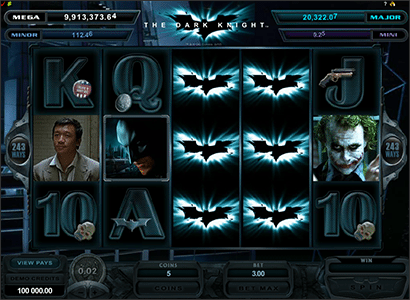 The Dark Knight progressive pokies