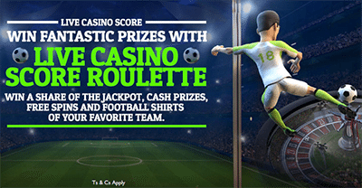 Euro 2016 Score Roulette at G'Day Casino