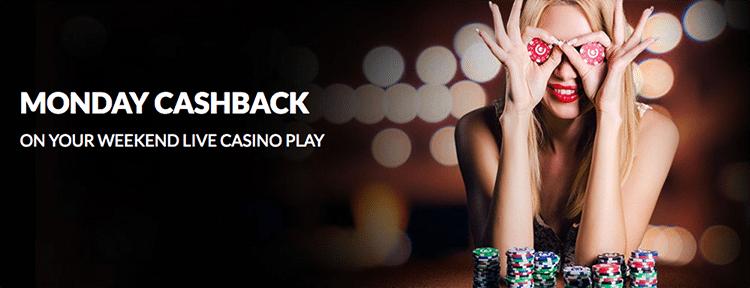 Guts.com Live Casino Cashback