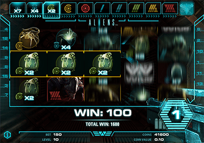 Aliens free spins bonus