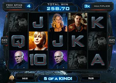 Battlestar Galactica free spins bonus