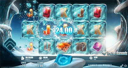 Frozen Diamonds online slots game