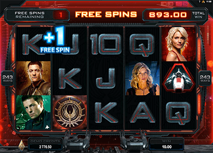 Battlestar Galactica online pokies game