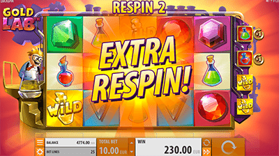 Extra respins on Gold Lab