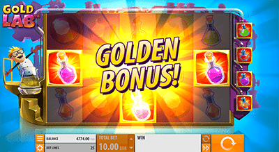 Gold Lab Golden Bonus scatters