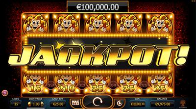 Joker Millions progressive jackpot slot